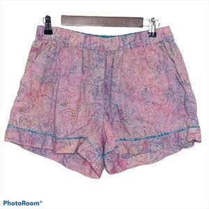 Gennyville Pink Pajama Shorts Size Large